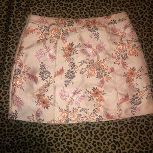 floral multi-color mini skirt